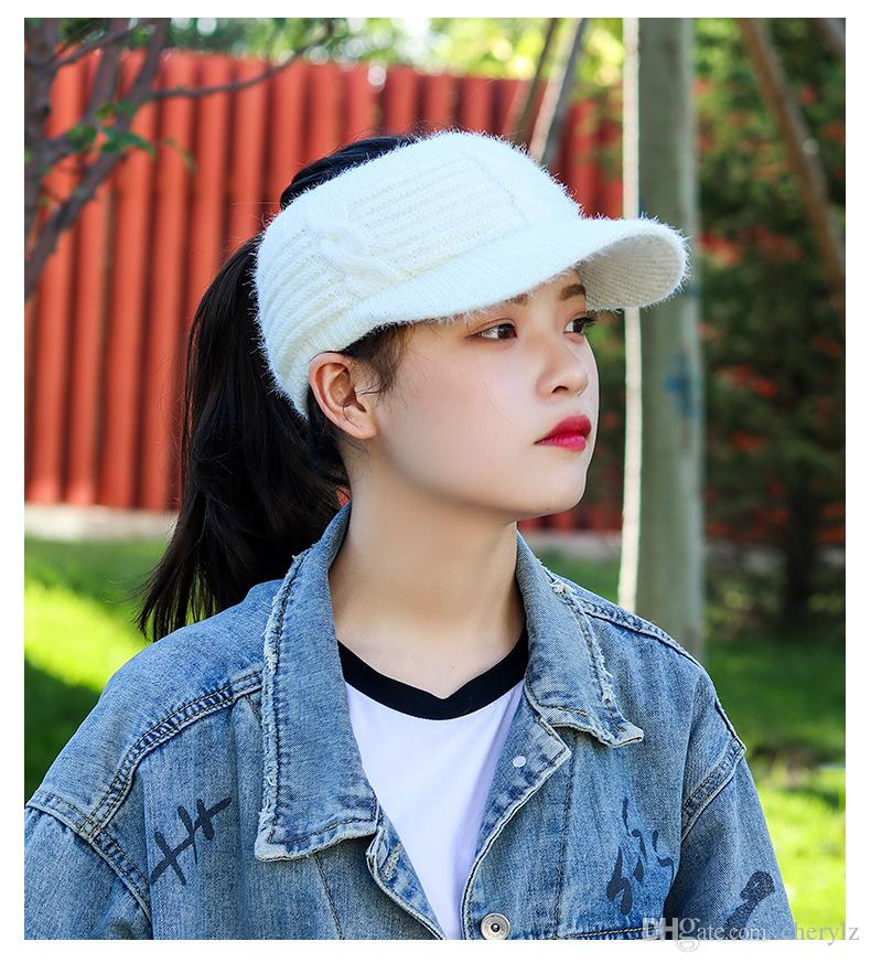 64179562664f2 Lady Without Top Type Winter Thicken Keep Warm Pure Color Sweet Lovely Hats  Girl Caps DC182 Beanie Boo Trucker Hats From Cherylz