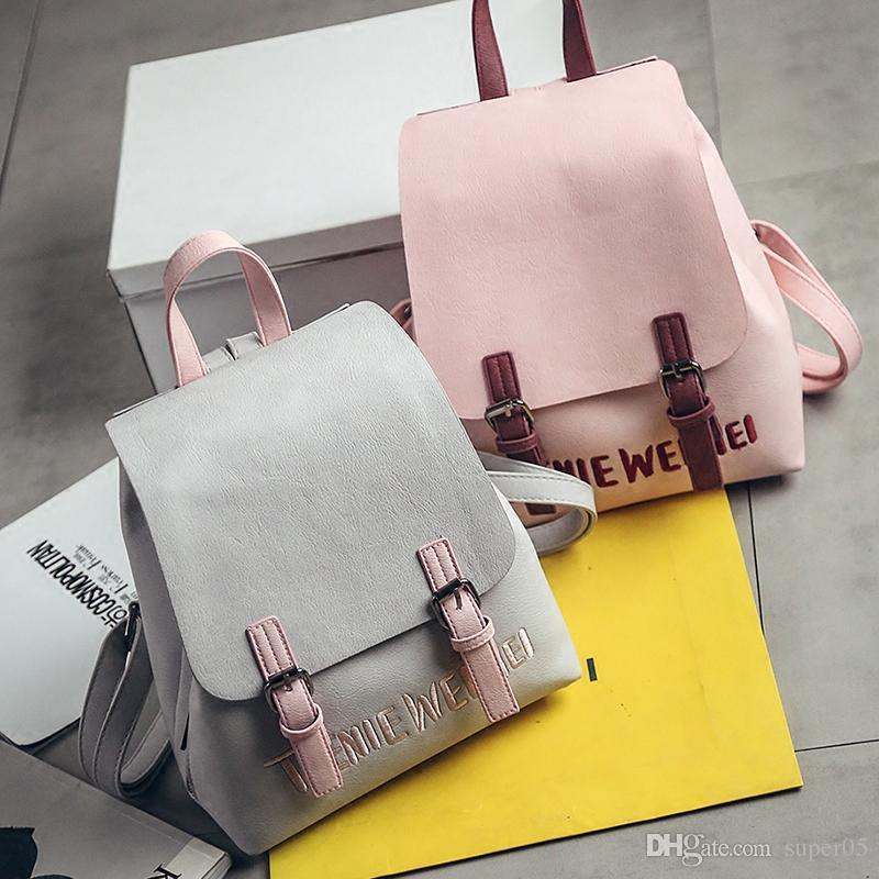 d338443c71f1c1 LEFTSIDE Brand 2018 New Small Simple Stylish Solid Rucksack Back Packs Women  Backpacks Famous Designer School Bag For Girls School Bags Designer Handbags  ...