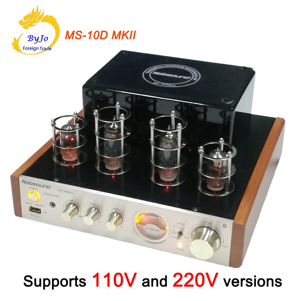 Nobsound Ms 10d Mkii Tube Amplifier Hifi Stereo Audio Power Circuit Diagram And Description Of Amplifierhifi 25w2 Vaccum Amp Support Bluetooth Usb 110v Or 220v Hearing Amplifiers High