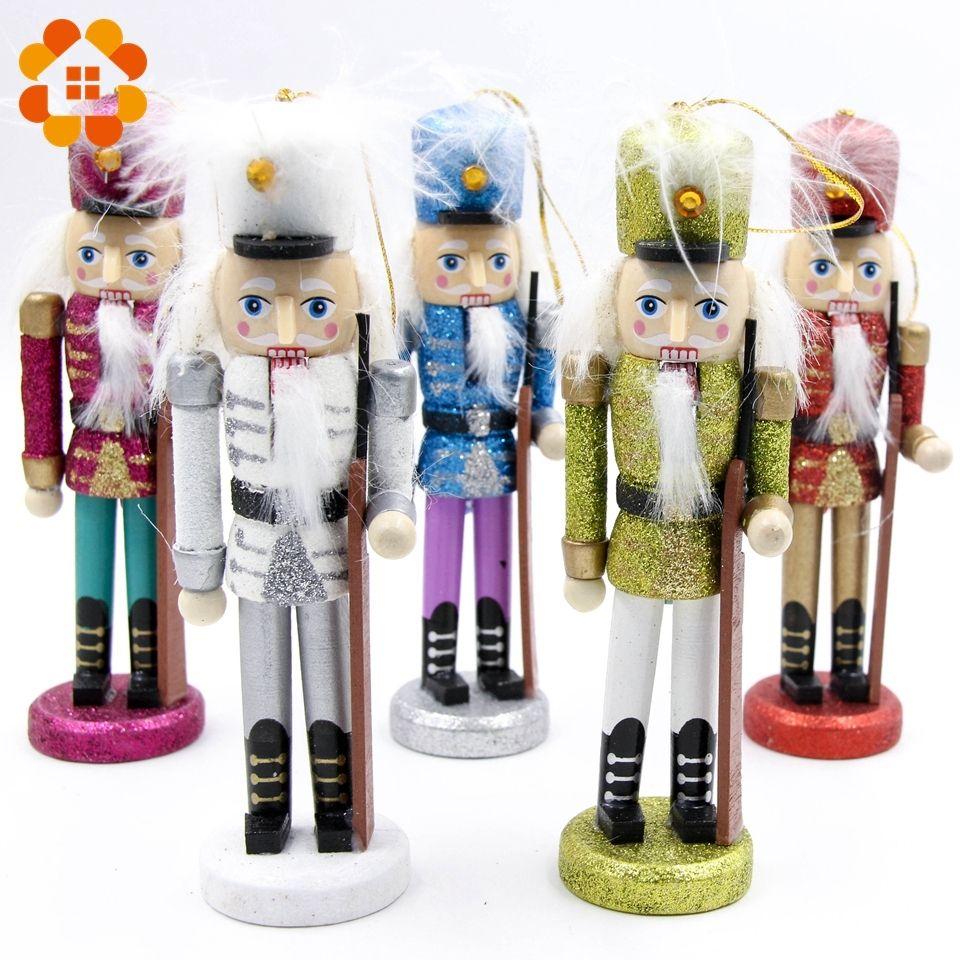 Creative Nutcracker Puppet Desktop Gifts Toy Decor Wood Handmade ...