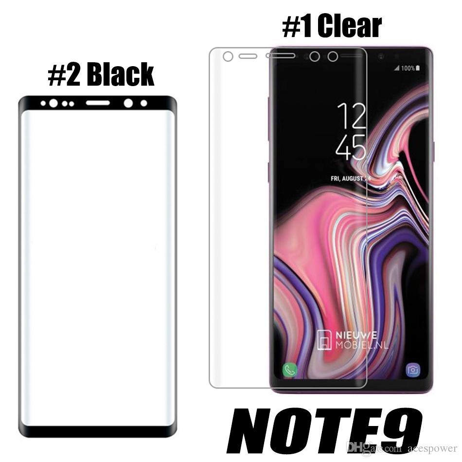 حامي آيفون 11 برو ماكس سامسونج S21 S10 S9 ملاحظة 10 بلس غالاكسي note20 الزجاج المقسى ملء الشاشة لون 3D منحني