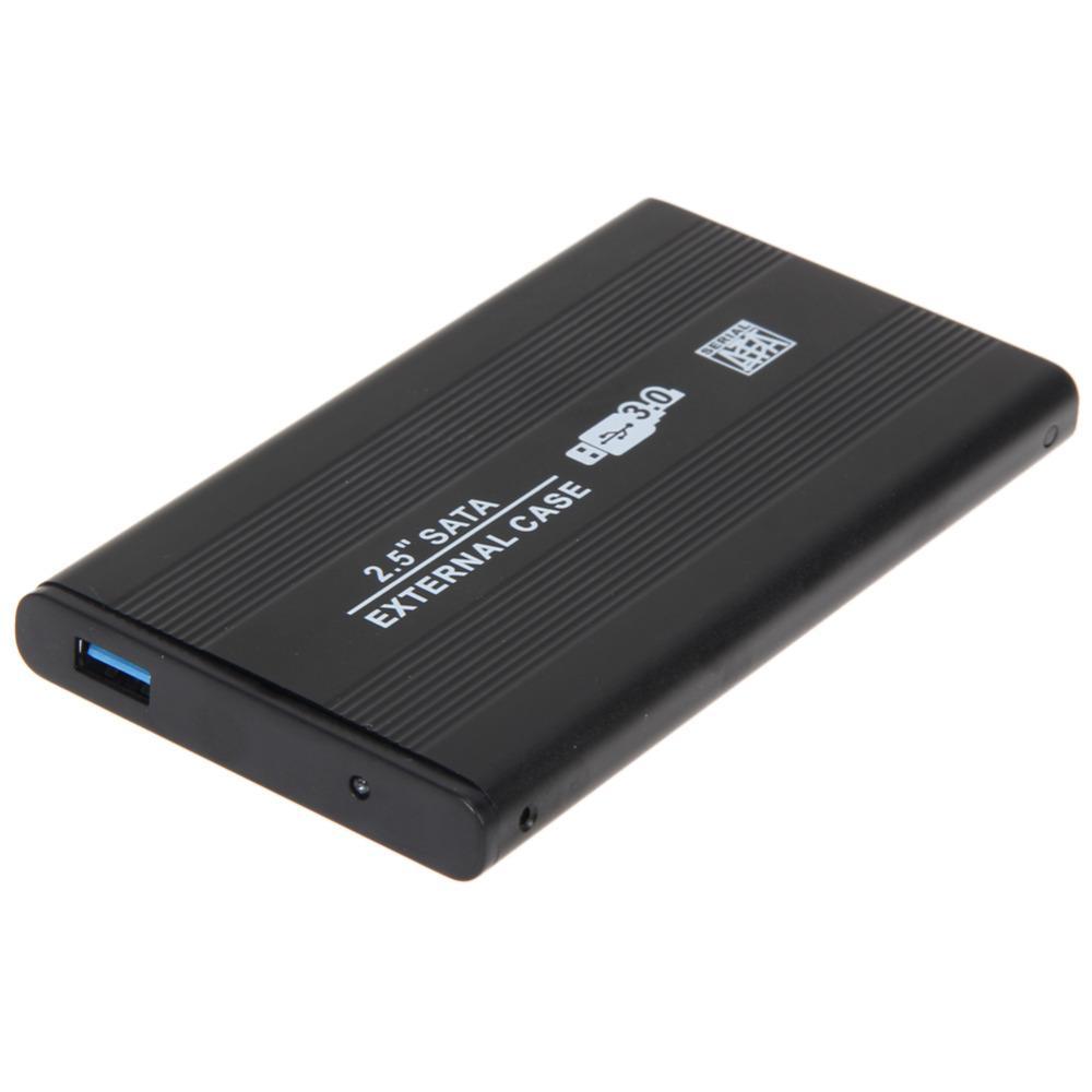 """NUOVO Nero USB 2.0 SATA 2.5/"""" HDD DISCO RIGIDO ESTERNO CUSTODIA Caddy Case Box"""