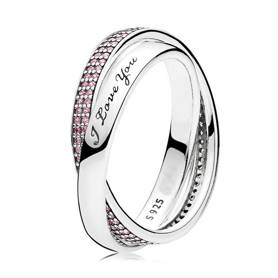 5fe3ca9f2 2019 On Sale Authentic 925 Sterling Silver Ring For Women Sweet Promise Ring  Pink CZ I Love You Gift Fit Lady Jewelry From Mangocc, $39.46 | DHgate.Com