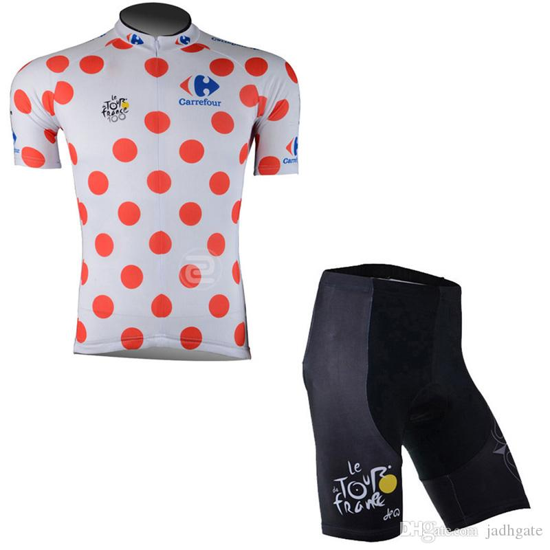 TOUR DE FRANCE team Cycling Short Sleeves jersey shorts sets breathable quick dry men mountain bike clothing D1315