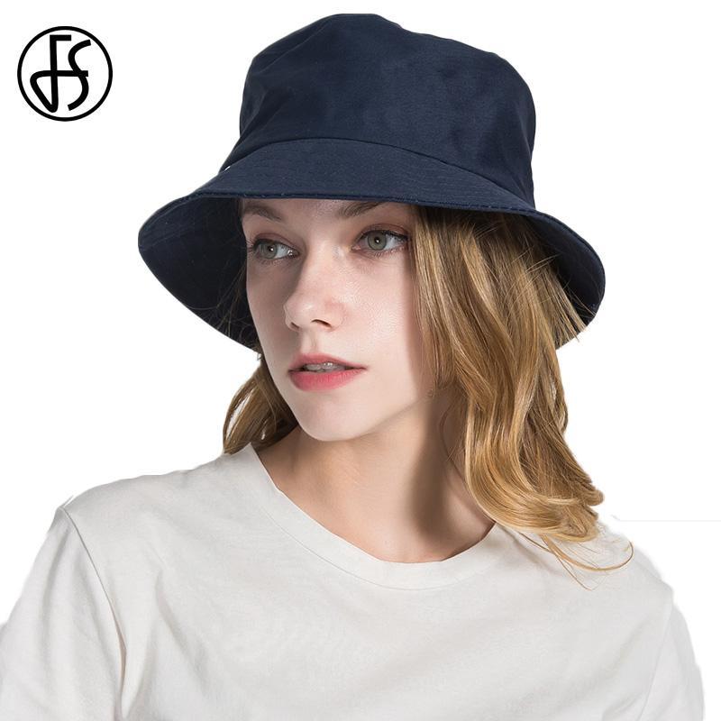 FS Summer Womens Canvas Bucket Hat Foldable Casual Viseira Feminina Visor  Dome Sun Hats Beach Chapeu Feminino Black Yellow Red Bucket Hats For Men  Womens ... 307772f001