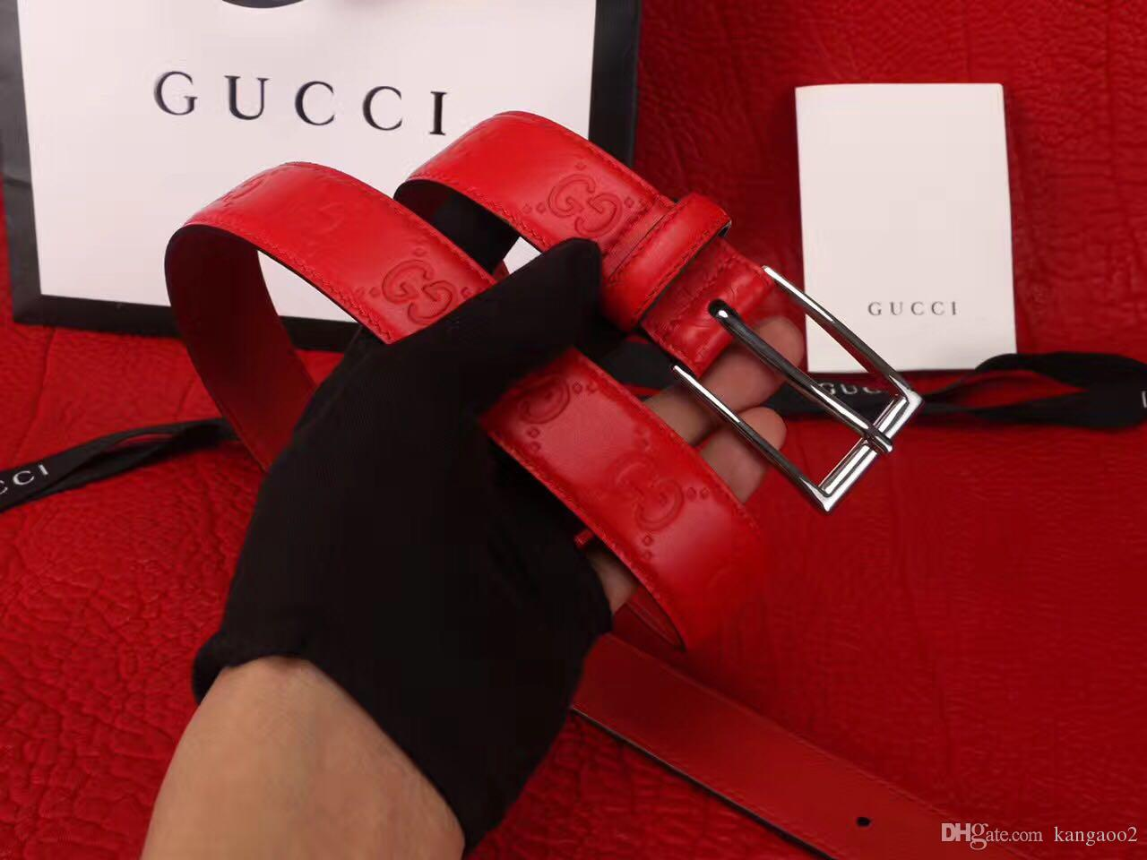 8461daa5 Hot women G Buckle Black Color belts real Leather Belt Wide 3.8 cm.free  epacket with box
