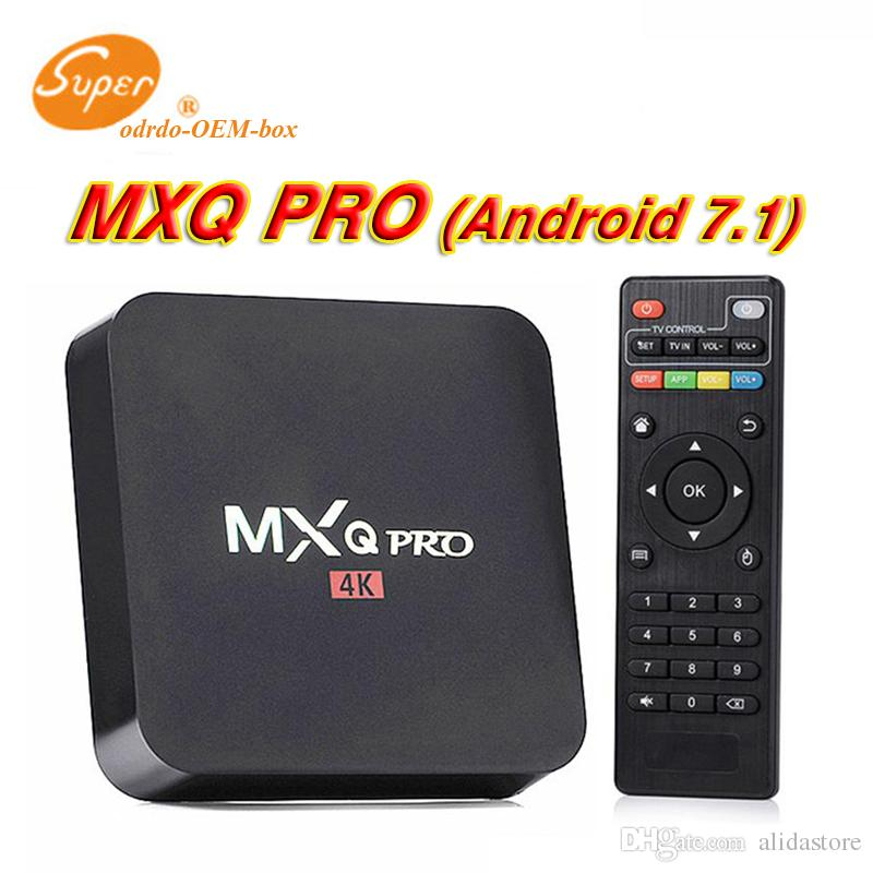MXQ Pro 4 K TV Caixa Rockchip RK3229 Android 7 1 Streaming Media Player  suporte 3D set top box