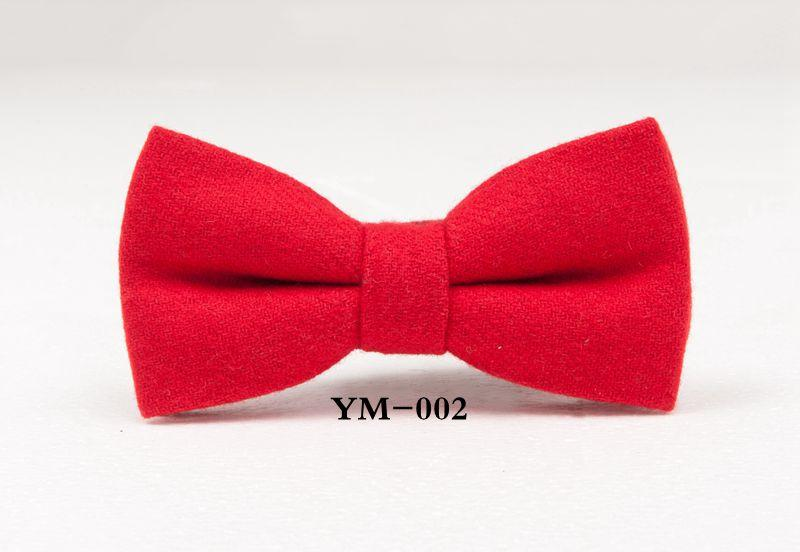 fashion wool bow tie finest men's bowtie butterfly business bowknot party neckwear groom bow ties red blue black white