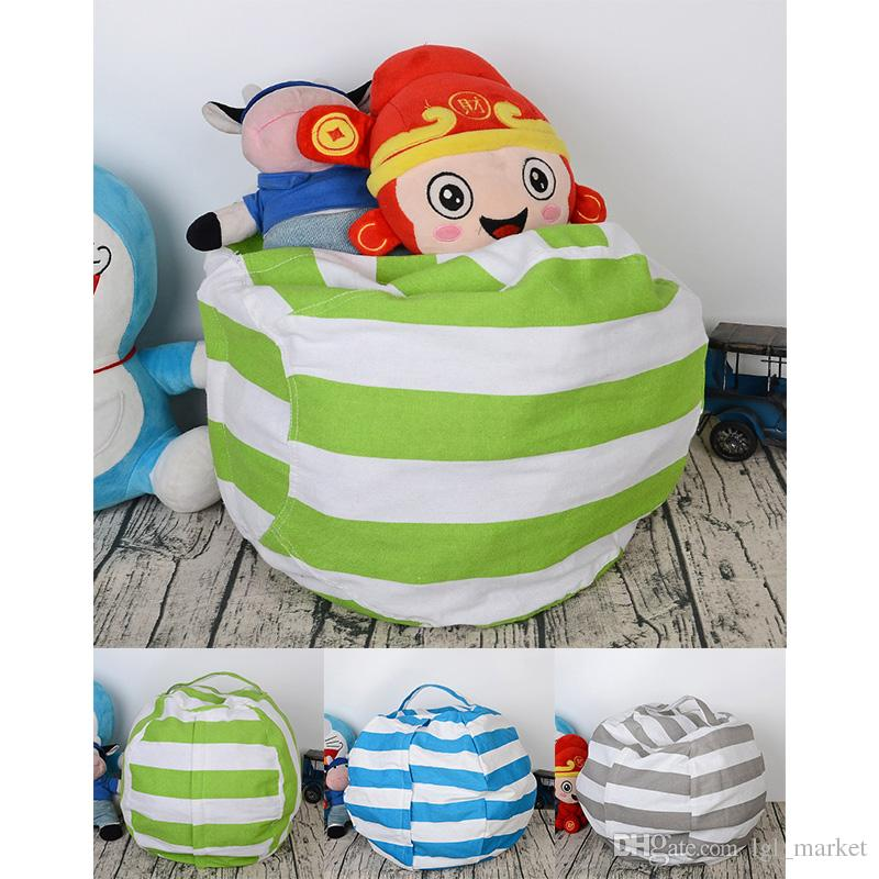 Fantastic 3 Colors Home Storage Bean Bags Beanbag Chair Kids Bedroom Stuffed Animal Organizer Bag Plush Toys Baby Play Mat Machost Co Dining Chair Design Ideas Machostcouk