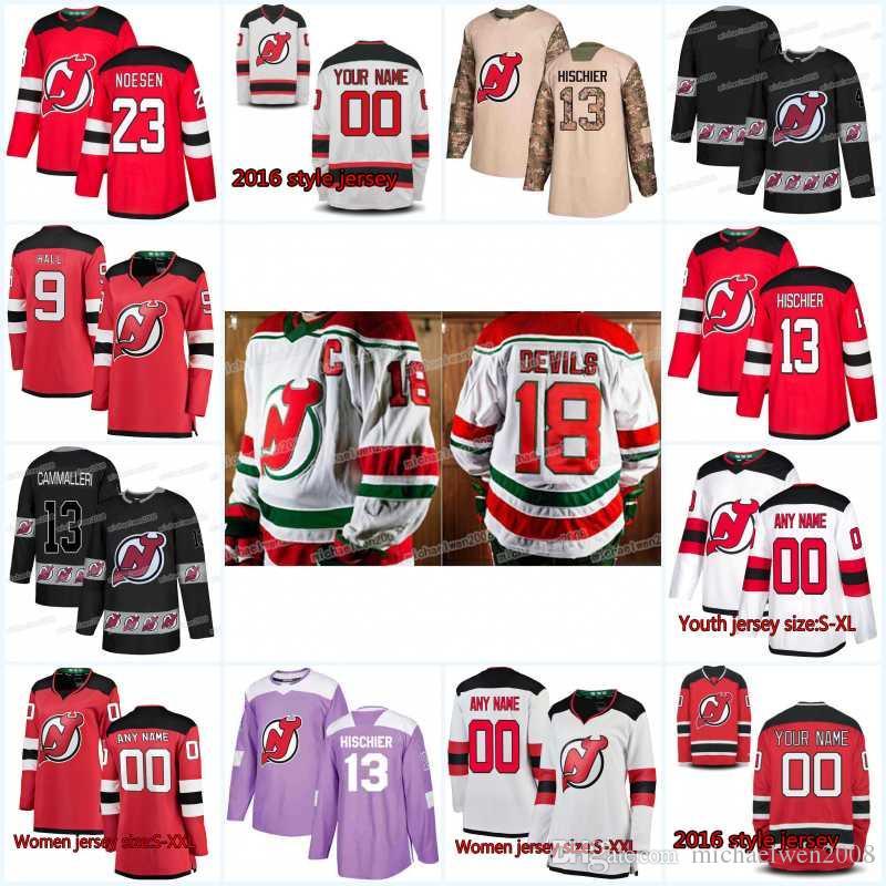 new product 439f3 49ac4 New Season New Jersey Devils Jersey 62 Xavier Bernard 8 Will Butcher 73  Jocktan Chainey 2 Eric Gryba 6 Andy Greene Hockey Jerseys