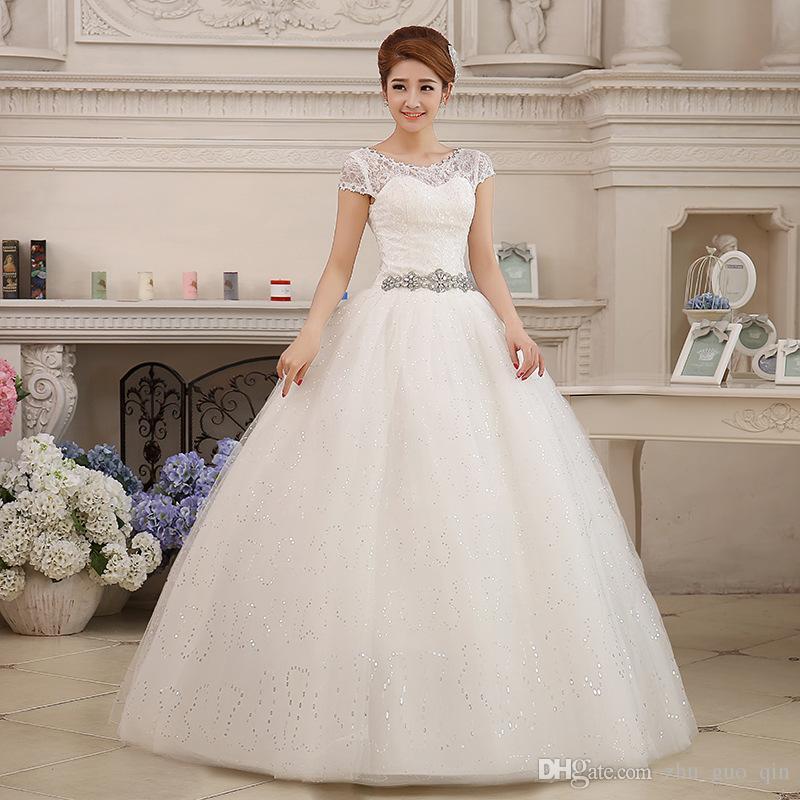c521503dc Compre Elegante Vestido De Novia De Encaje Barato 2018 Moda Vestidos De  Novia Cortos Vestidos De Novia De Cristal Más El Tamaño Vestido De Noiva A   43.21 ...