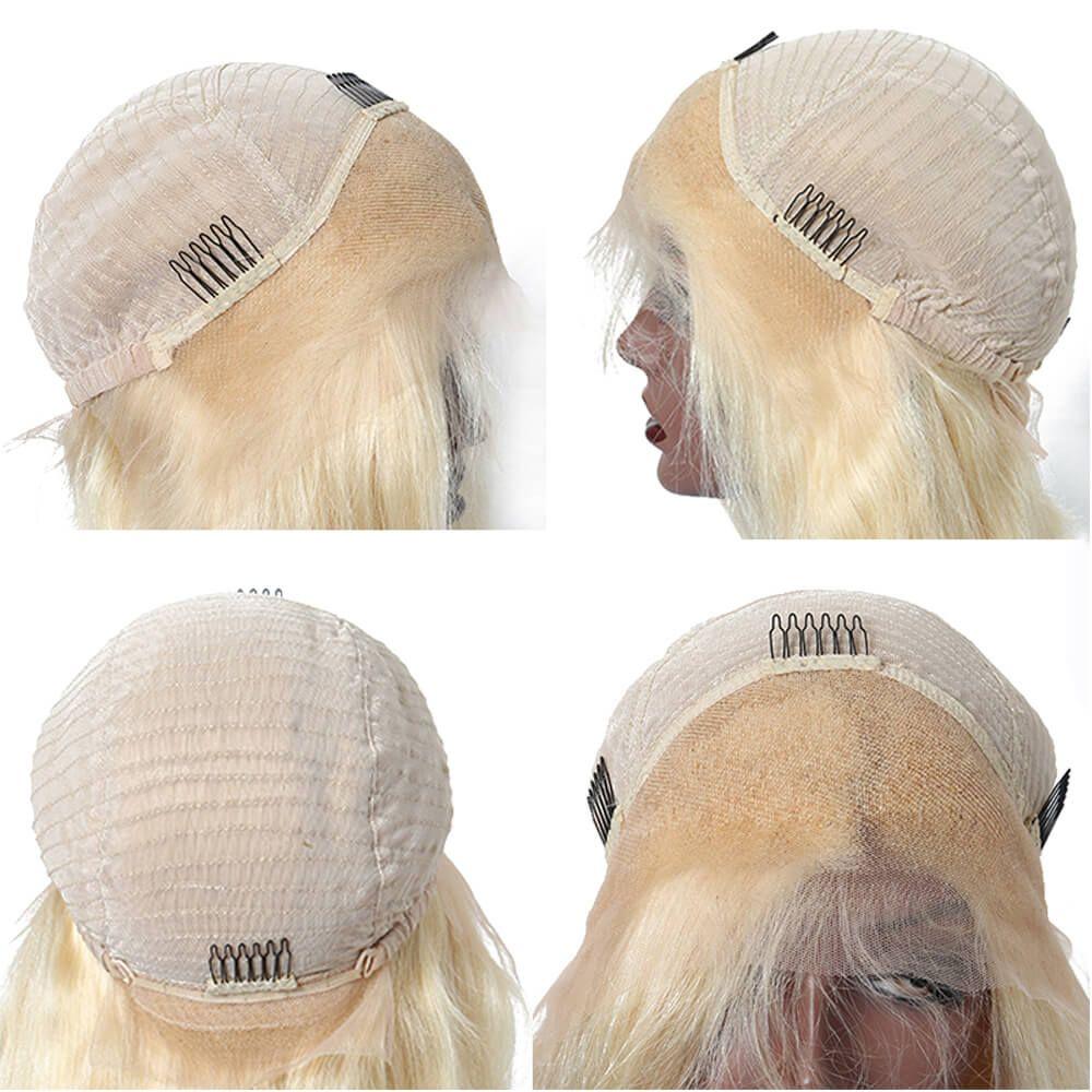 Parrucche frontali in pizzo e Serico dritto parrucche piene pre-pizzicate linea sottile naturale intorno wowwigs capelli del bambino