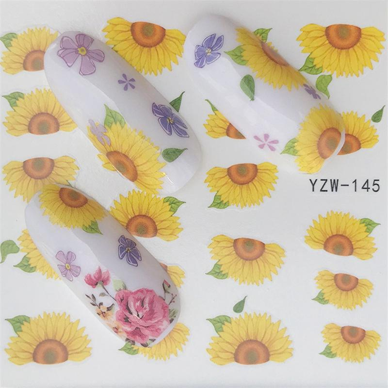 adc9c11cf Nail Sticker Water Decals Sunflower Nails Slider Art Design Decoration  Manicure Foil Adhesive Wraps Polish Pegatinas Accessories Nail Sticker  Designs 3d ...
