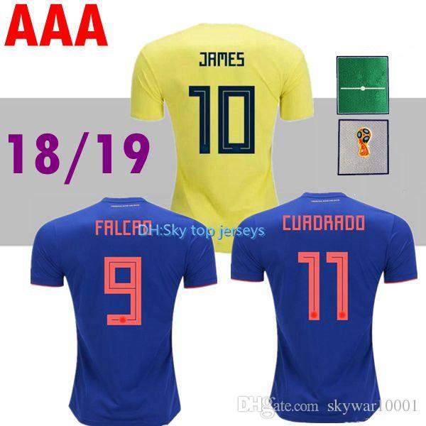 011d34af5 Top THailand Quality Home And Away 2018 WORLD CUP 18 COLOMBIA ...
