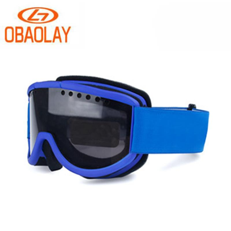 1527b6a19e 2019 OBAOLAY Antifog Ski Goggles Double Lens HD Vision Skiing Glasses  Outdoor Sports Windproof UV400 Protective Eyewear From Peachguo