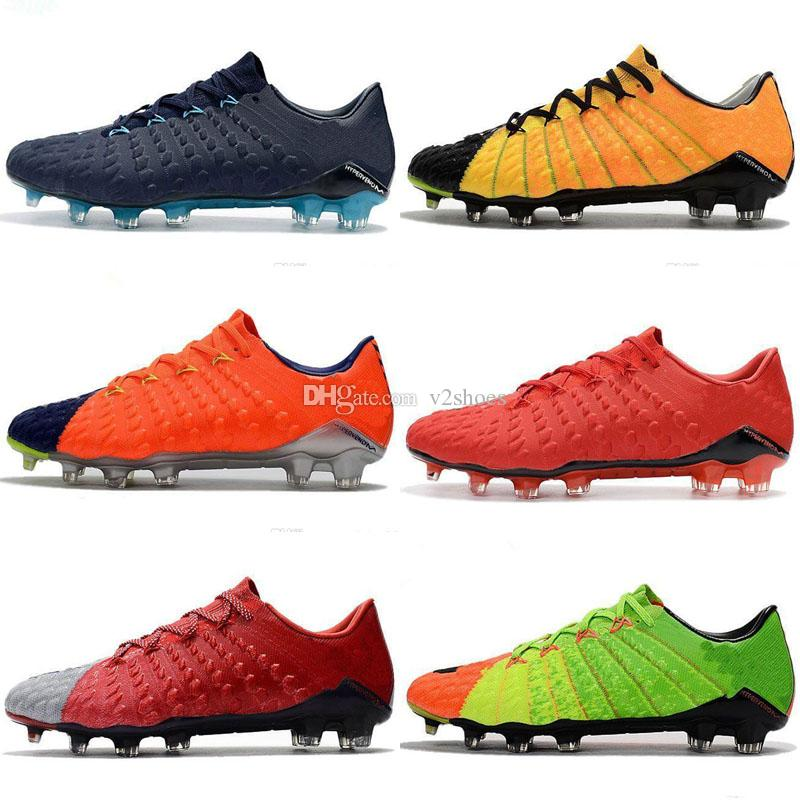 cheap for discount 54346 8c289 2018 original soccer cleats Hypervenom Phantom 3 III FG low top neymar  boots cheap soccer shoes for men authentic football boots mens new