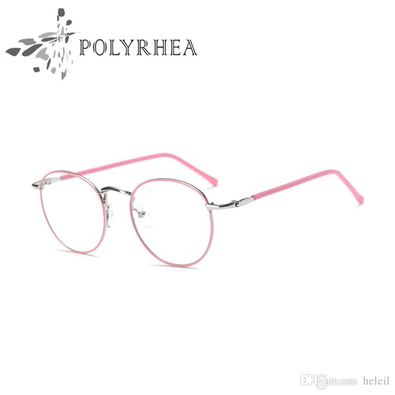6b7f191469f8 2019 2018 Classic Retro Clear Lens Nerd Frames Glasses Men Women Optical  Acetate Prescription Spectacle Square Metal Eyewear Frame From Heleil