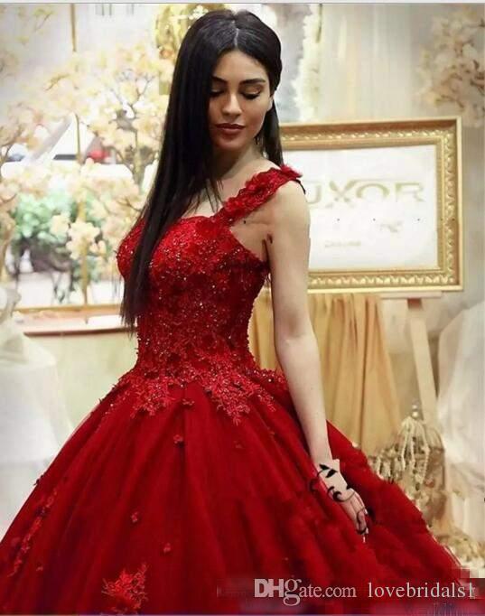 2019 Moda Dark Red vestido de Baile Quinceanera Vestidos Com Apliques de Renda Frisada Sexy Meninas Sem Mangas Festa de Aniversário Vestidos de Noite Prom Dres