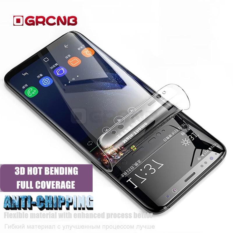00d08b0b3 Compre Película De Proteção Para Samsung Galaxy S8 S9 Mais S7 Borda Suave  Filme Curvo Protetor De Tela Para Samsung Nota 8 Não De Vidro De Super006