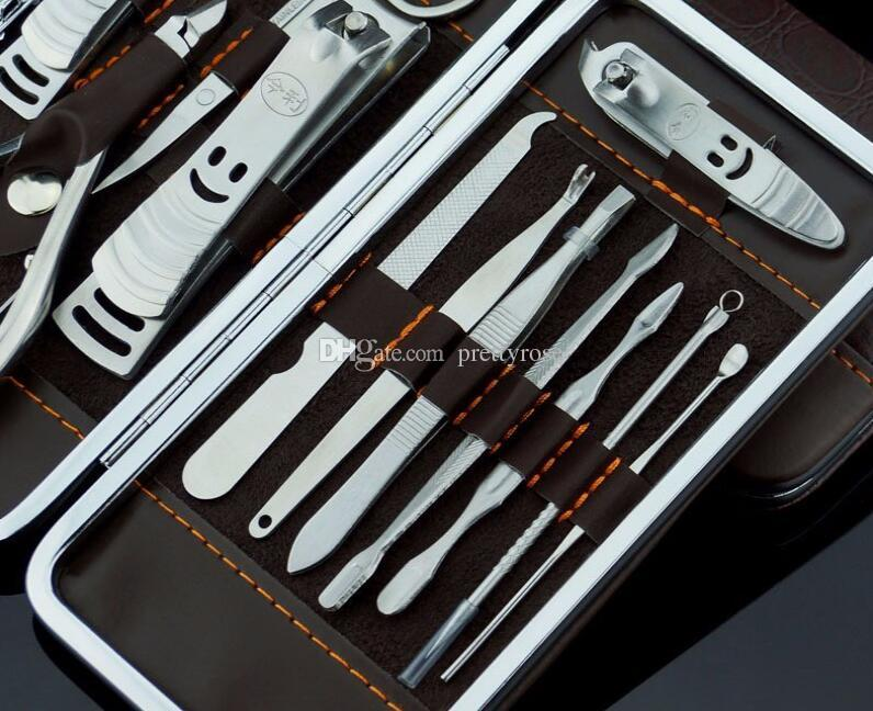 12шт маникюрный набор педикюр ножницы пинцет нож уха забрать утилита ногтей Клипер комплект, нержавеющая сталь уход за ногтями набор инструментов новый