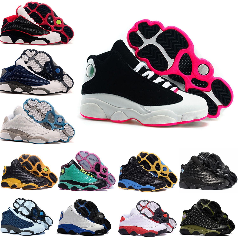 huge discount 82a98 34069 13 13s Mens Basketball Shoes Phantom Chicago GS Hyper Royal Black Cat Flints  Bred Brown Olive Wheat DMP Ivory Grey Men Sports Sneakers Women Basketball  Gear ...