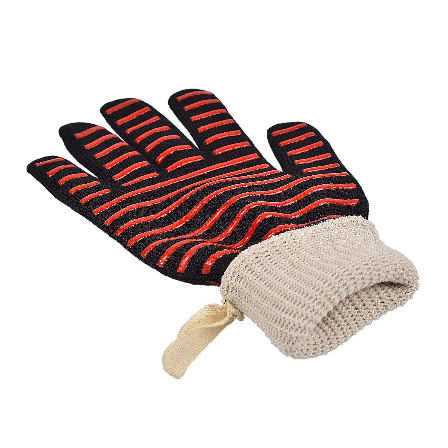 Heat Resistance Gloves BBQ Microwave Oven Gloves Fire prevention 7 designs 500 Centigrade Aramid glove Silicone Baking Gloves
