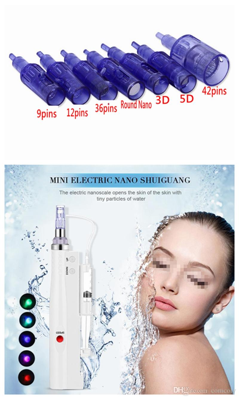 2 in 1 Needle Cartridge For Mesotherapy Meso Gun Derma Pen Micro Needle Anti Aging Facial Skin Care Use