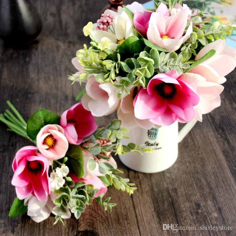 Factory wholesale artificial magnolia bouquet silk floral flowers factory wholesale artificial magnolia bouquet silk floral flowers home wedding room decorations furnishing artificial magnolia bouquet silk floral flowers mightylinksfo