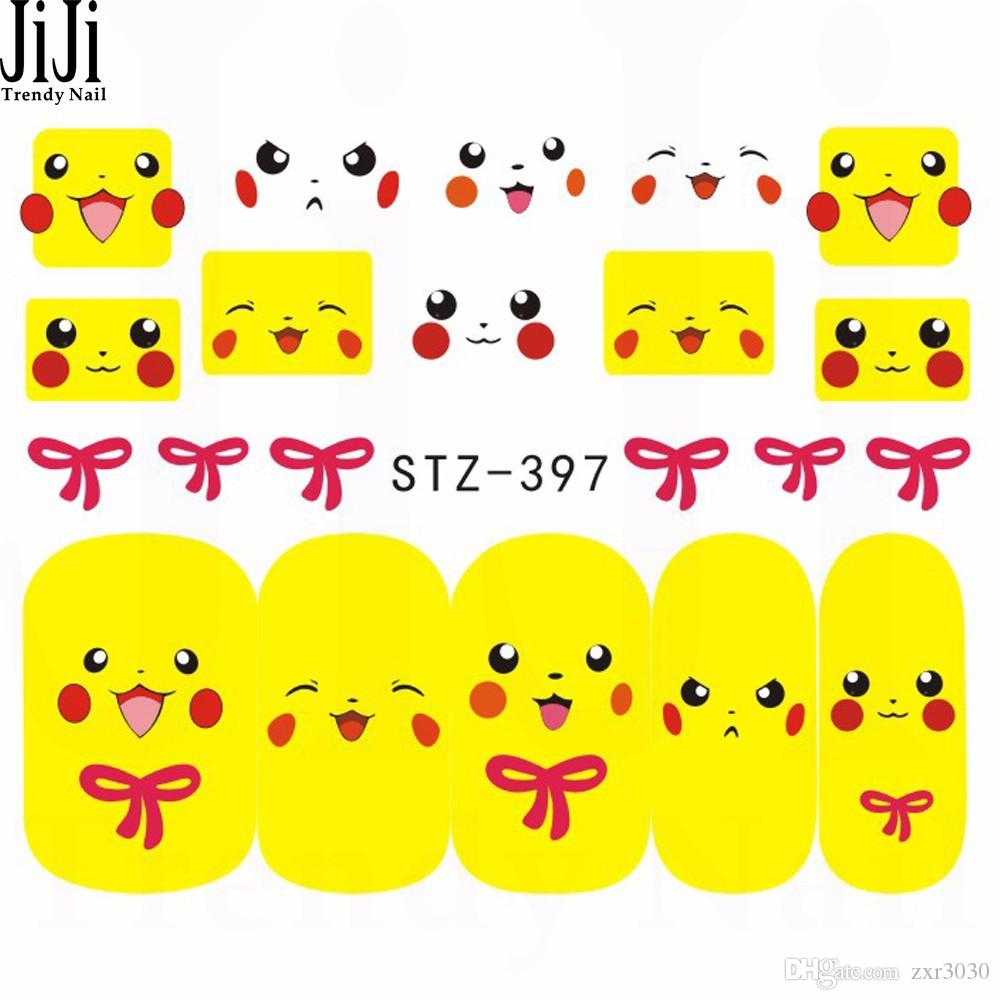Nuova vendita calda Nail Art Sticker Fashion Cover Immagine completa Decalcomanie Nail artTransfer Water Foils Beauty Tool