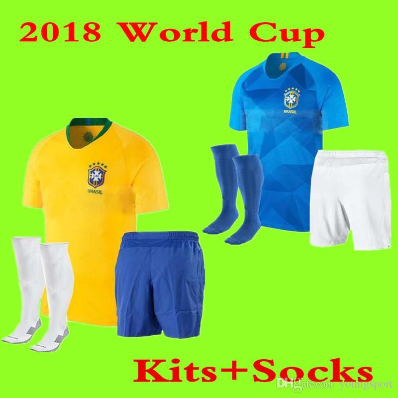 18411fd16 ... 2018 brazil world cup neymar jr adult soccer jersey g.jesus p.coutinho  marcelo