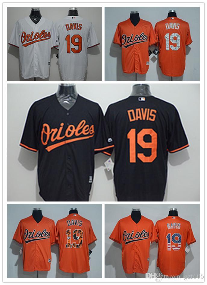 868a59d2f04 custom Men's women youth Majestic Baltimore Orioles Jersey #19 Chris Davis  Home Orange Grey White Kids Girls Baseball Jerseys