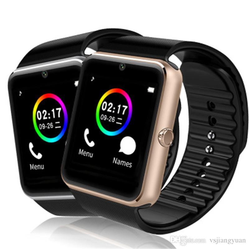 SIM Kart Yuvası ve NFC Sağlık ile GT08 Bluetooth Akıllı Izle Android Samsung ve IOS Apple iphone Smartphone için Bilezik Smartwatch Smartwatch