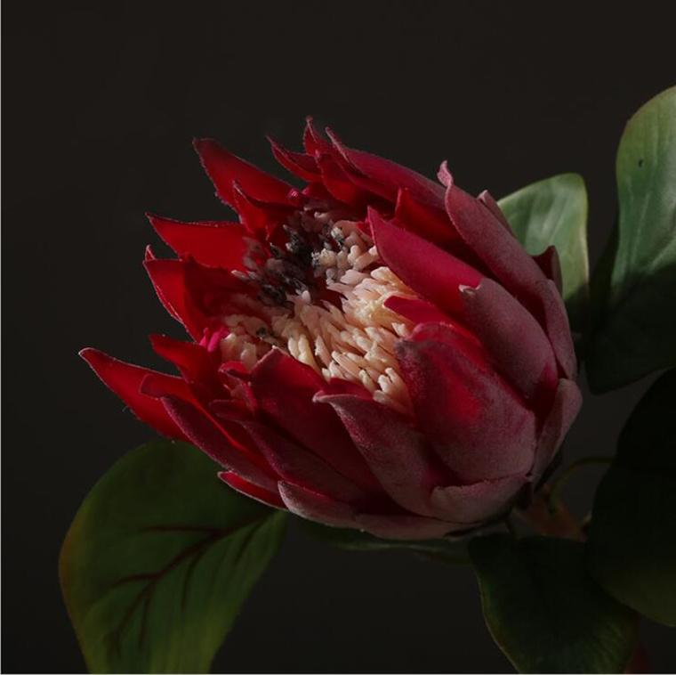 beautiful artificial africa protea cynaroides silk flowers branches