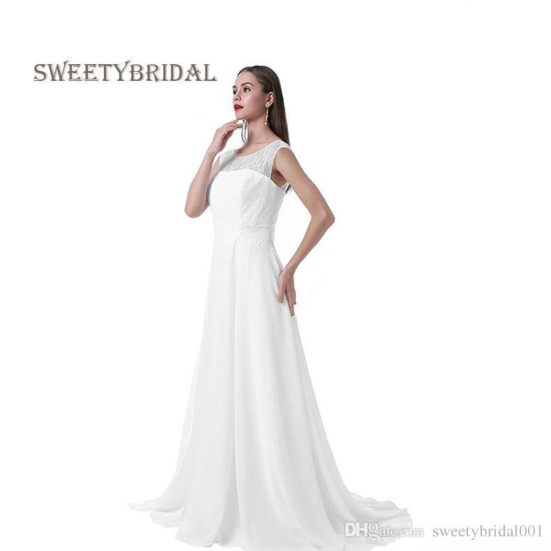 Maternity Wedding Dresses 2018 Plus Size Simple Design Scoop Lace ...