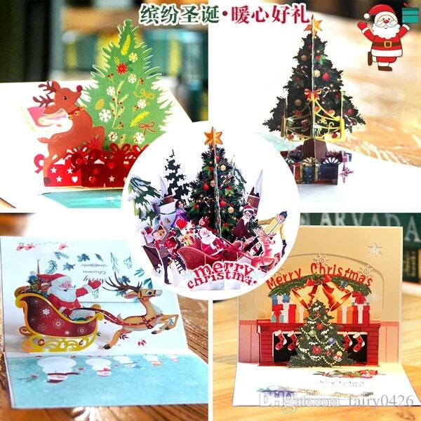 Großhandel Weihnachten Grußkarten 3d Stereoskopische Präsentation ...