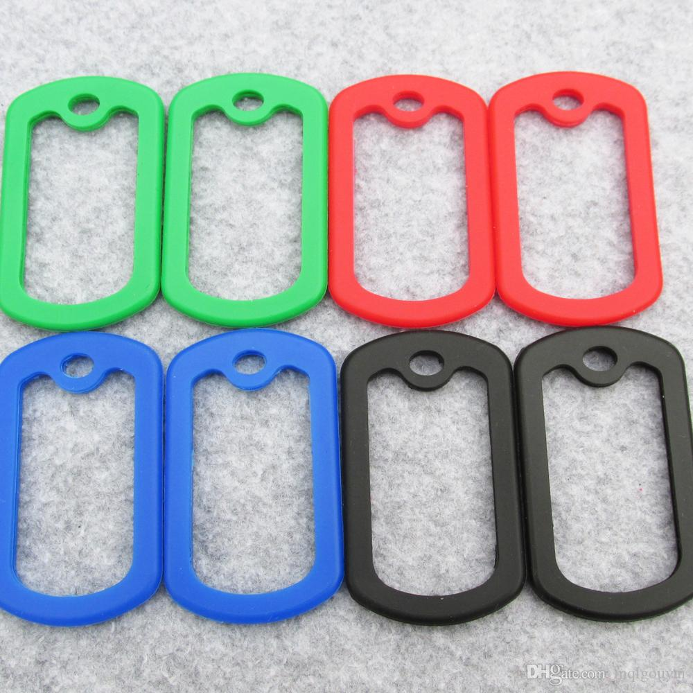 Square Silicone Rubber Silencers For Army Dog Tags Size Around 50