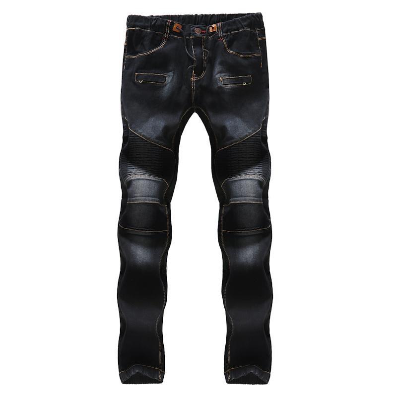 Mode Cowboy Lacets Se À Noir Casual Pantalon Plie Slim Hommes La 2018 Homme Les Jeunesse Classique De Jeans wqH1tTST