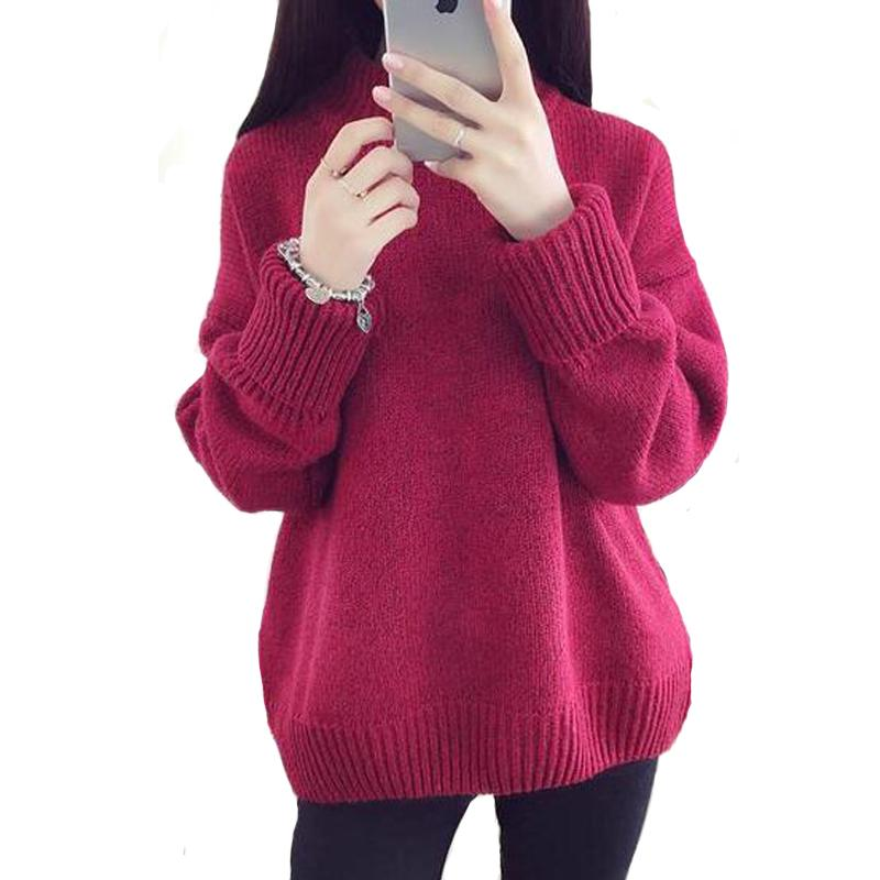 5d0cc3c9963 2019 Turtleneck Sweater Women Christmas Sweater Female Pure Color Wild  Basic Full Sweater Winter Woman Knitting Pullovers Top Discount From  Yahua business