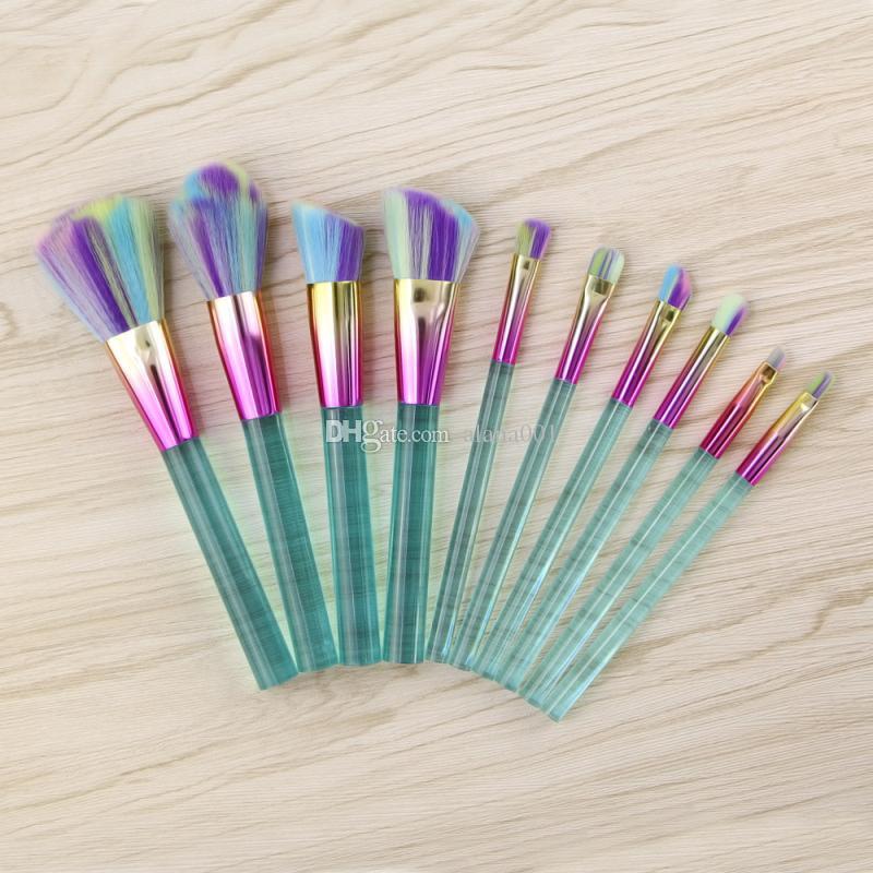 ¡En stock! Rosados del maquillaje profesional El sistema cristalino de cepillo del maquillaje de cepillo del kit de cosméticos