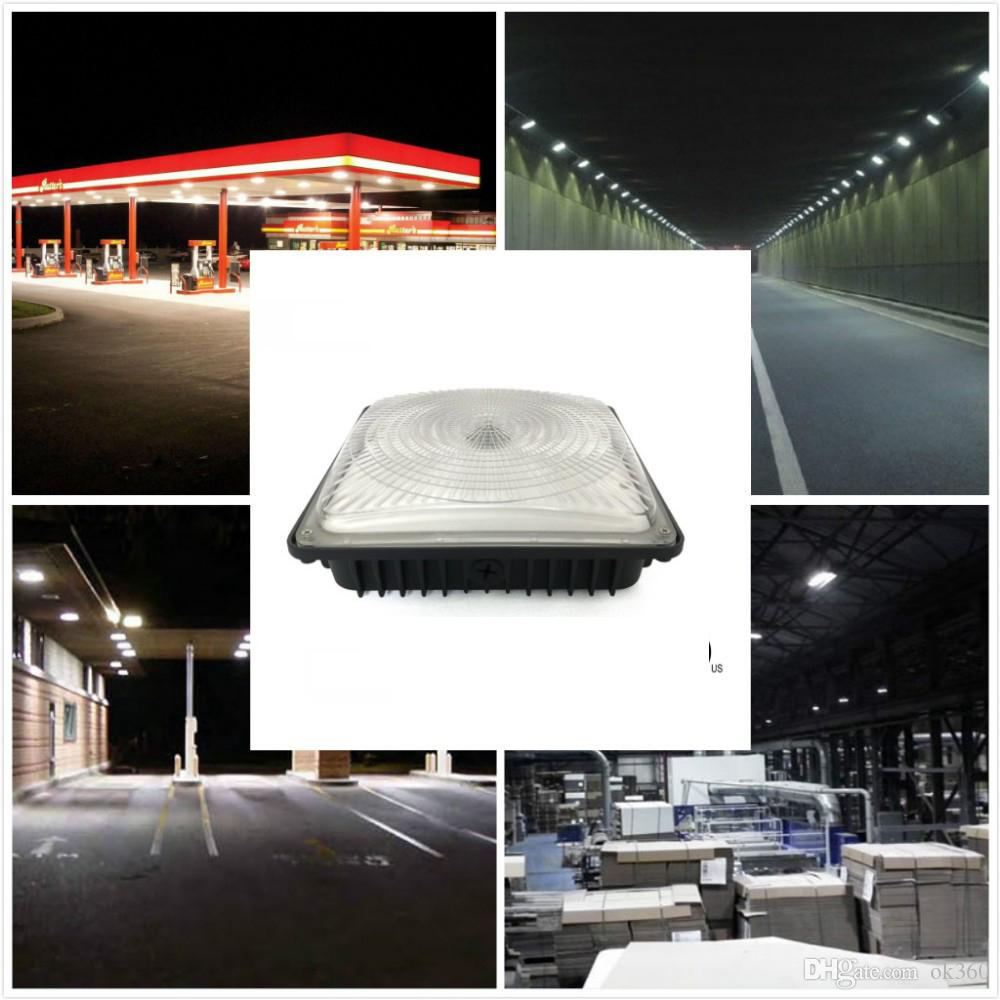 High Bay Lighting For Warehouse Workshop Hall Lobby Lighting IP65 Waterproof 40W 60W 80W Led Canopy Lights UL DLC
