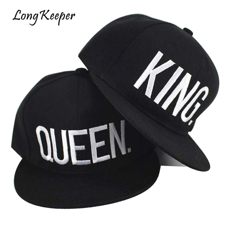 f0d1532b60e Long Keeper KING QUEEN Embroidery Caps Men Women Hip Hop Hats Gift For  Girls Boys Adjustable Caps Wholesale PrMesh Hats Superman Cap From  Melontwo