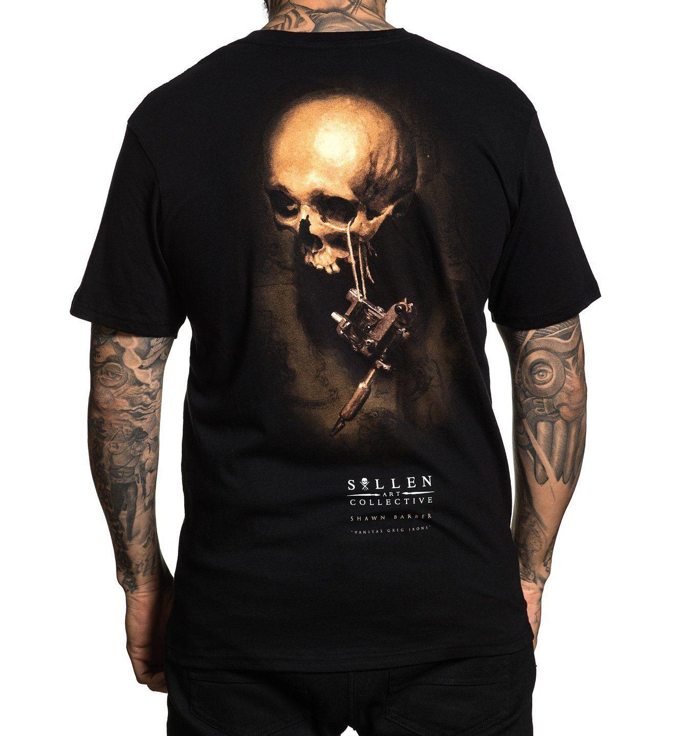 ecbaef929f1 SULLEN GREG IRONS REALISM HUMAN SKULL TATTOO MACHINE BLACK Mens 2018  Fashionable Brand 100%cotton T Shirt Printing Really Cool T Shirts Online  Shopping T ...