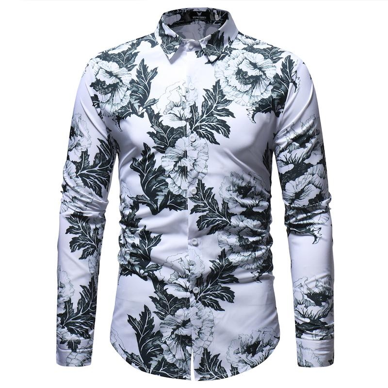 Myazhou Coton Longues Casual Marque Manches 2018 Chemise Mode Homme Slim Haut À De En Gros Pour XZiuTOPk