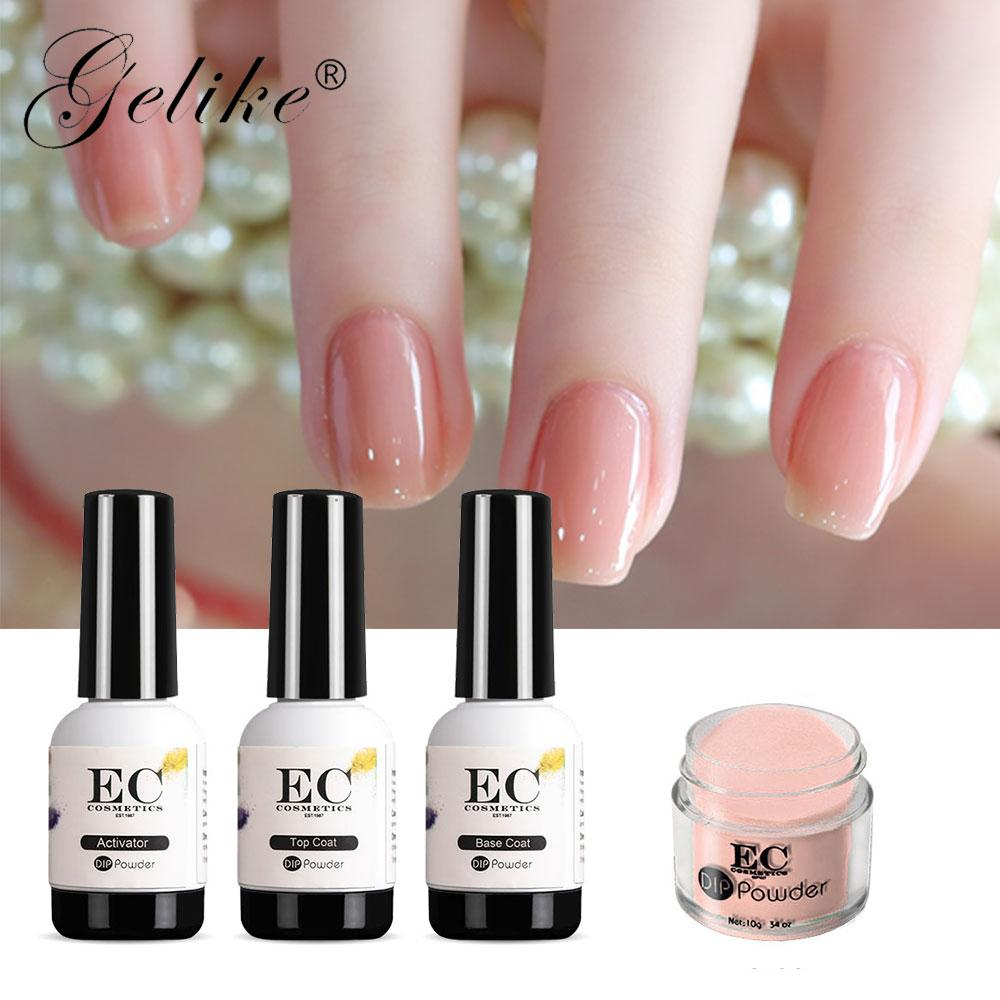 Gelike Colors 10g/Box Dipping Powder Without Lamp Cure Nails Dip Powder  Summer Gel Nail Color