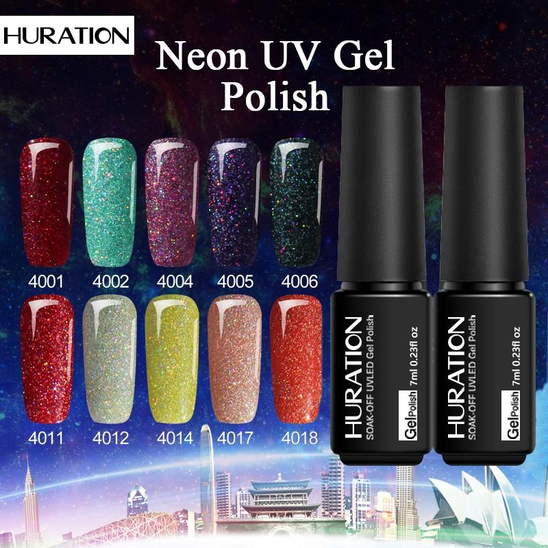 Huration BEAUTY Neon Nail Polish Gel Varnish 7ml Semi Permanent Art ...