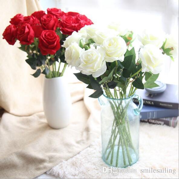 Single velvet rose artificial silk flowers 52cm l for valentines single velvet rose artificial silk flowers 52cm l for valentines day wedding party home holiday decoration 41105 silk flowers rose home decoration wedding mightylinksfo