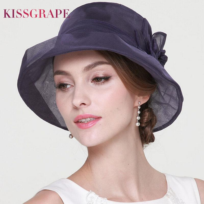 100% Natural Mulberry Silk Hats for Women Ladies Luxury Quality Sun Hats Party Elegant Caps Female Summer Beath Anti-uv
