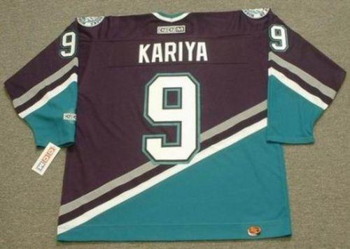 save off 0be7e b09fb 2018 Wholesale Cheap PAUL KARIYA Anaheim Mighty Ducks 2003 Away Hockey  Jersey All Stitched Top-quality Any Name Any Number