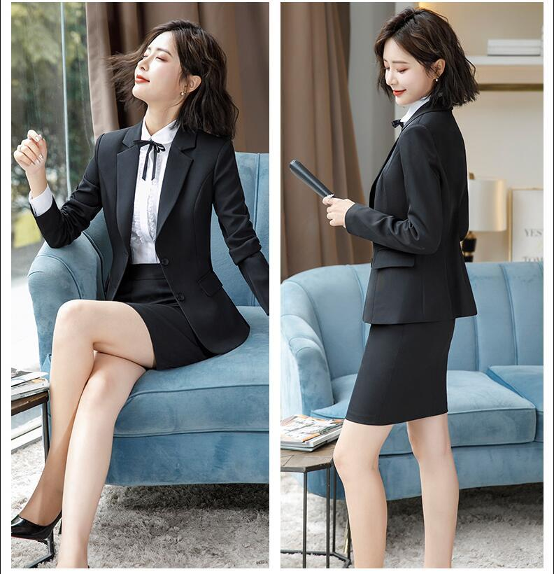 728ad45acab2 New 2018 Female Women's Skirt Suits plus size for women ladies jackets and  Blouse Blazers Trouser Skirts Suit Set 2 3 4 pieces