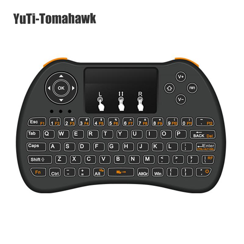 Backlight Keyboard H9 2 4Ghz Wireless Qwerty English Keyboard with Touchpad  for Mini PC Smart TV TV Box Laptop PC Backlit